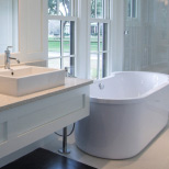 bathroom basin and bath